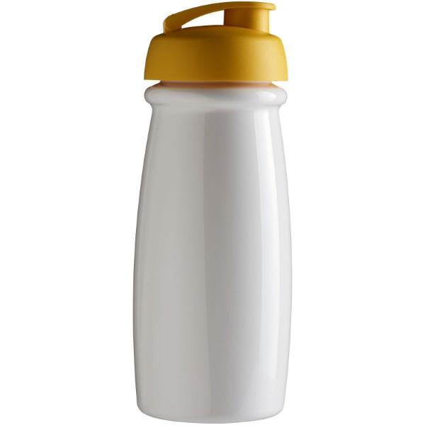 H2O Pulse® 600 ml flip lid sport bottle - White / Yellow