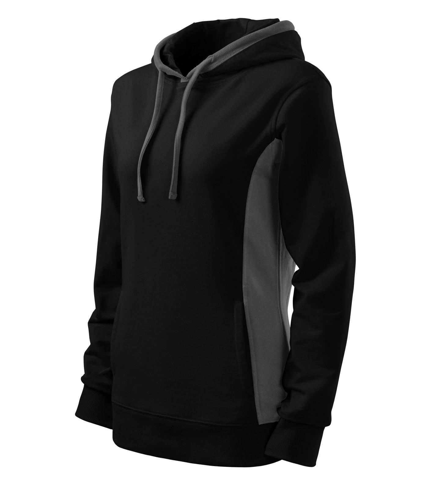 Sweatshirt women's Malfini Kangaroo - Black / L