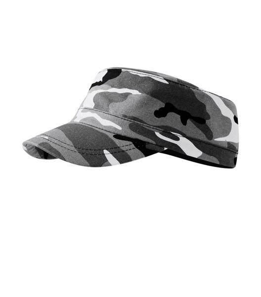Čepice unisex Malfini Camo Latino - Camouflage Gray / nastavitelná