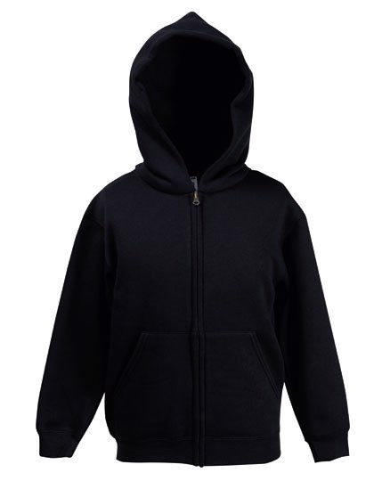 Premium Hooded Sweat Jacket Kids - Black / 116
