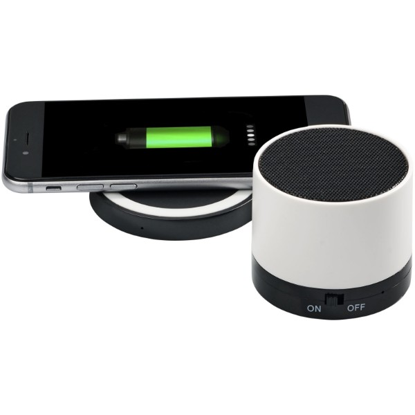 "Altavoz Bluetooth® y base de carga inalámbrica ""Cosmic"" - Blanco"