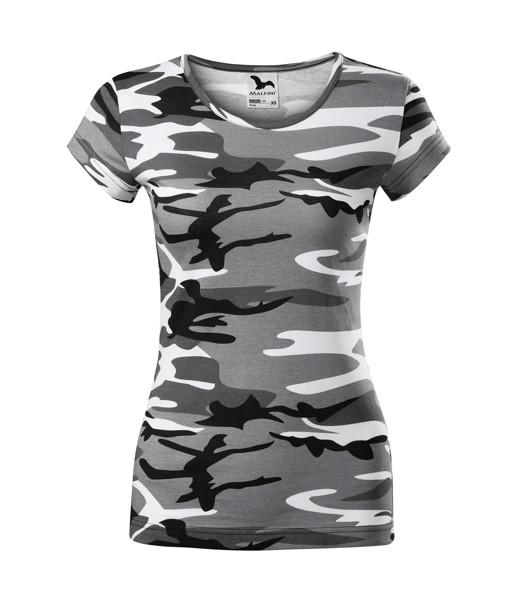 Tričko dámské Malfini Camo Pure - Camouflage Gray / 2XL