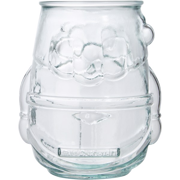 Nouel recycled glass tealight holder - Transparent Clear
