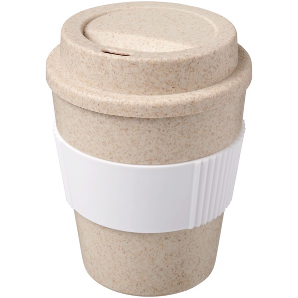 Oka 350 ml wheat straw tumbler - White