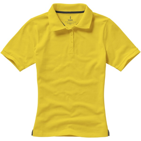 Calgary short sleeve women's polo - Yellow / XS