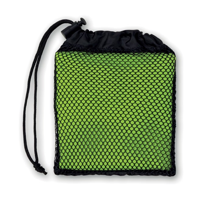 Sports towel with pouch Tuko - Lime