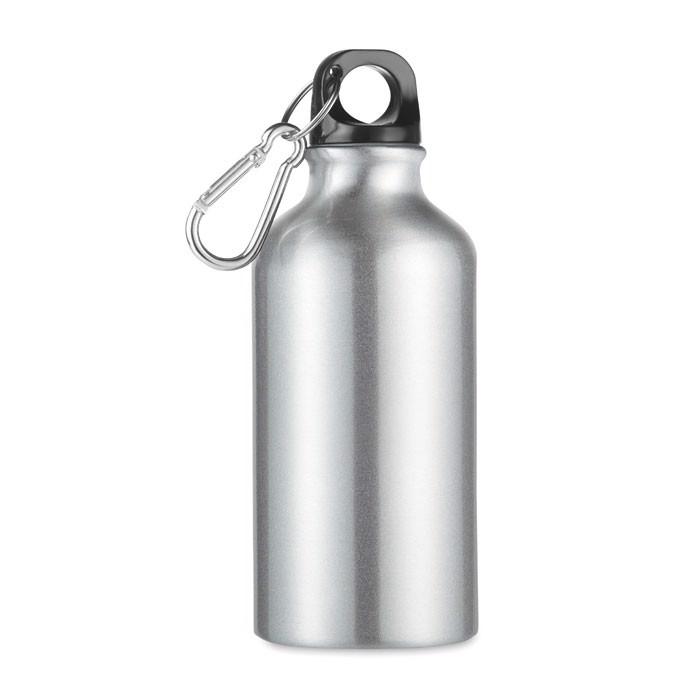 Aluminium Trinkflasche 400ml Mid Moss - mattsilber