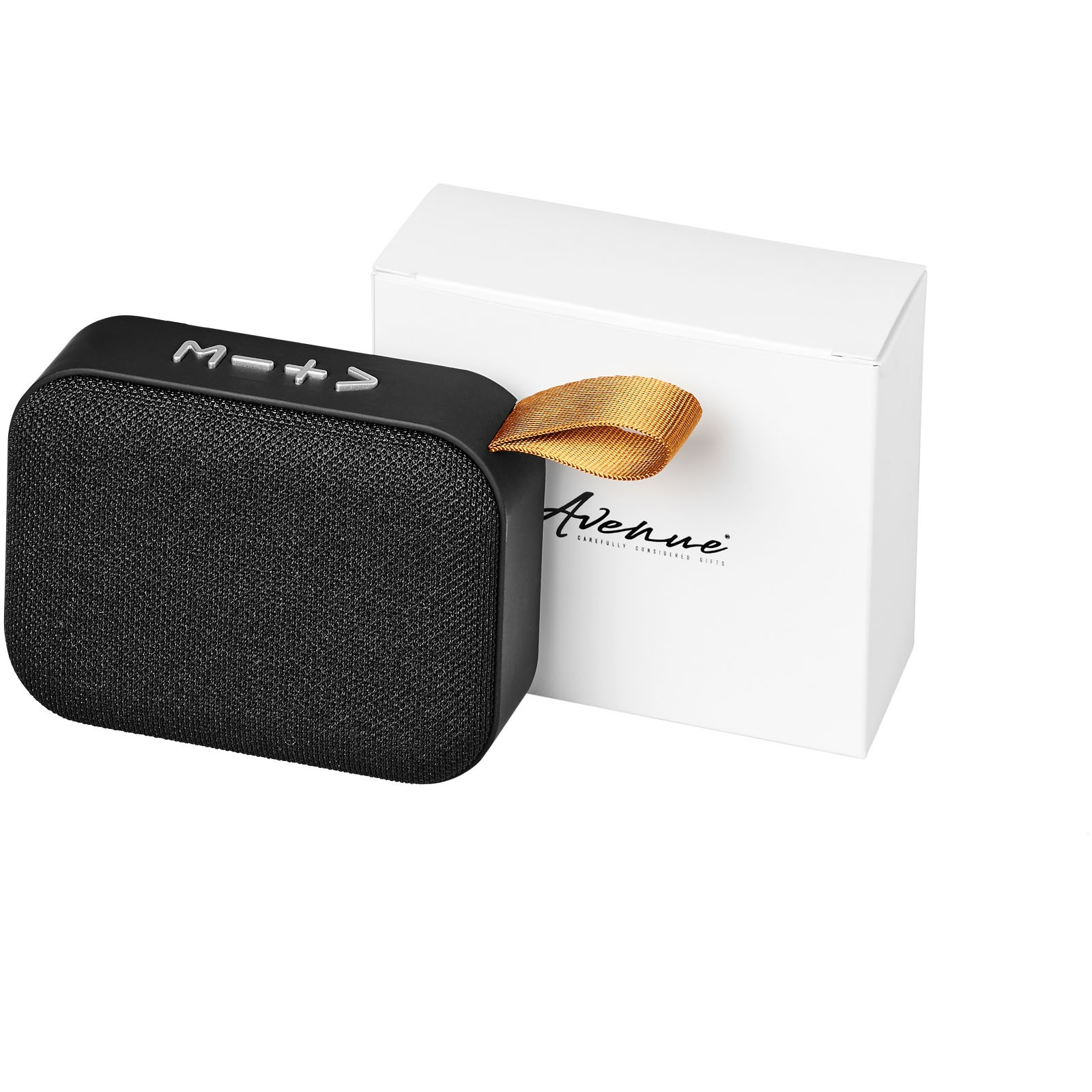 Fashion fabric Bluetooth® speaker - Solid black