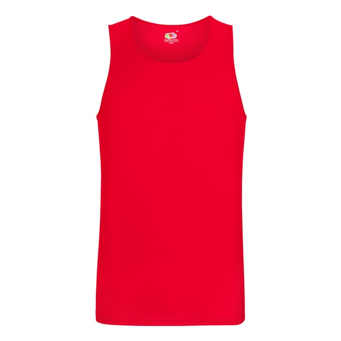 Herren T-Shirt Sport Performance Vest 61-416-0 - Red / XL
