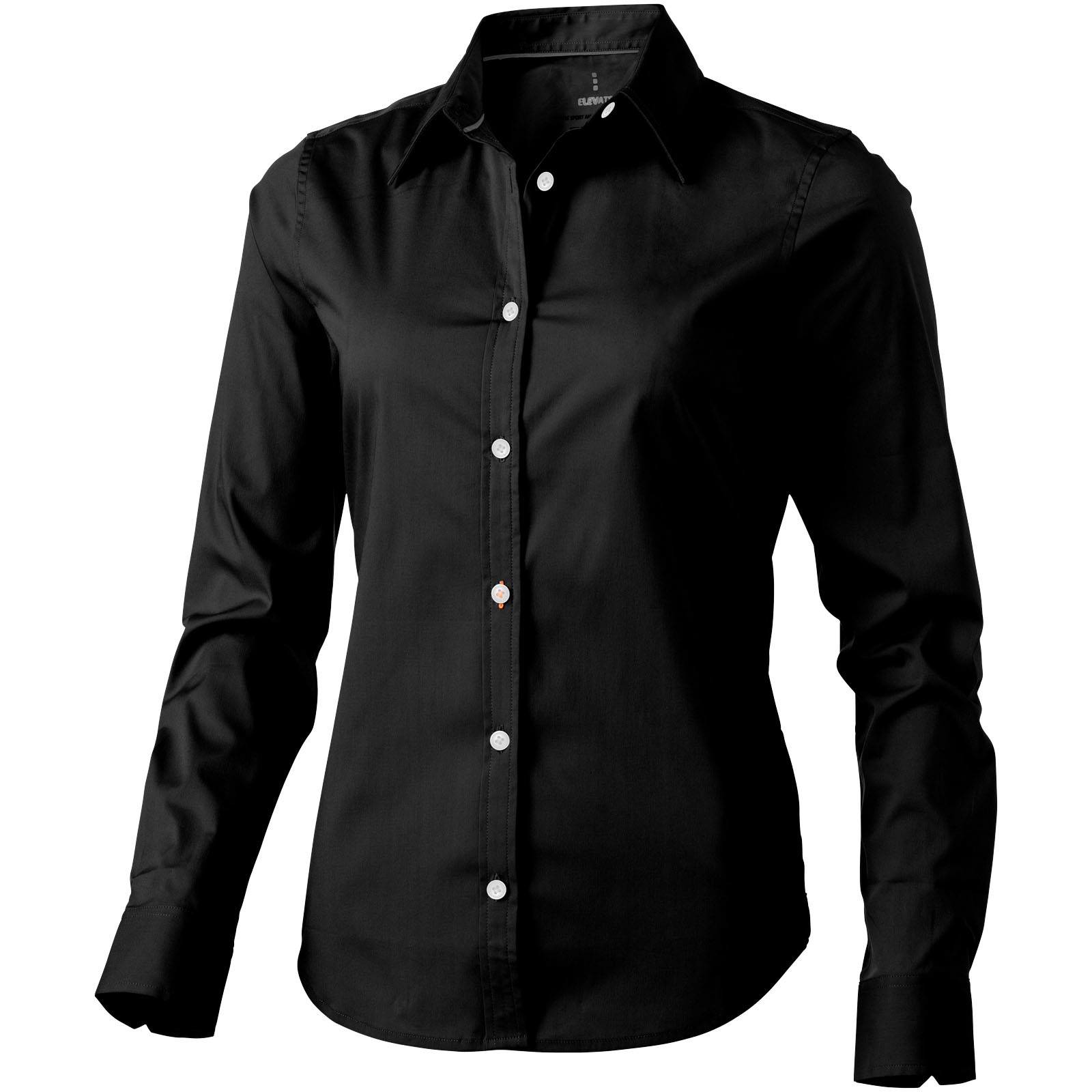 Hamilton long sleeve women's shirt - Solid black / S