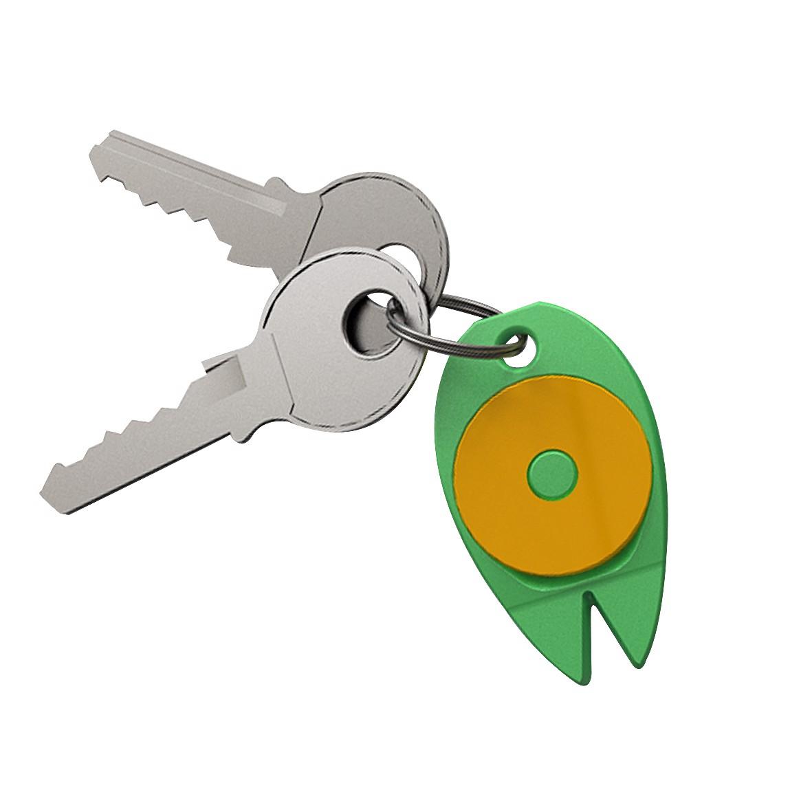 """Key Fob """"Tick Map"""" - Standard-Green"""