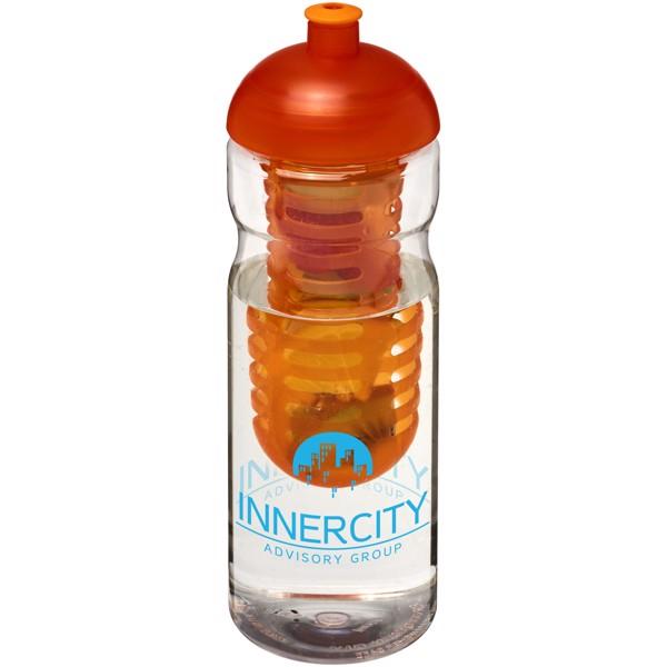 Sportovní láhev s infuzérema kupolovitýmvíčkem H2O Base® 650 ml - Transparent / Orange