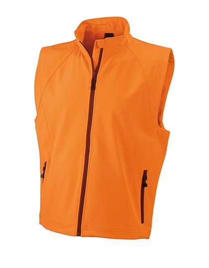 Men`S Softshell Vest - Orange / XL