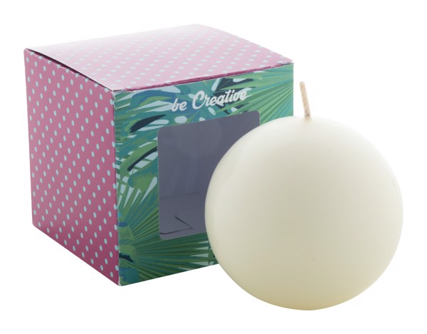 Ball Candle Cosmos - White