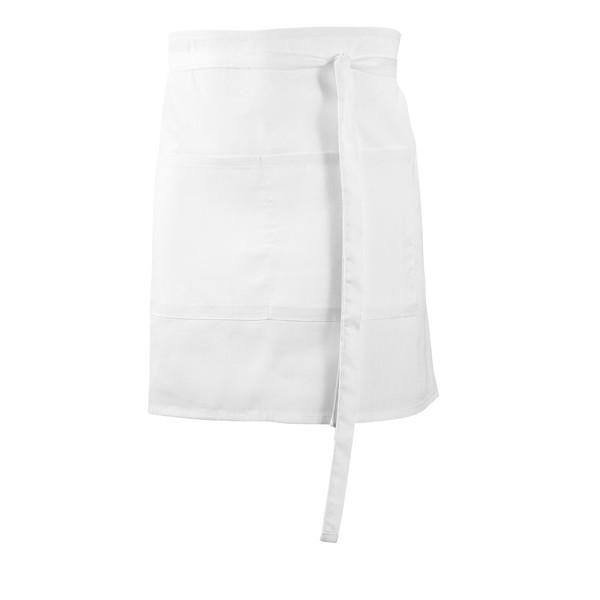 ROSEMARY. Barová zástěra z bavlny a polyesteru - Bílá
