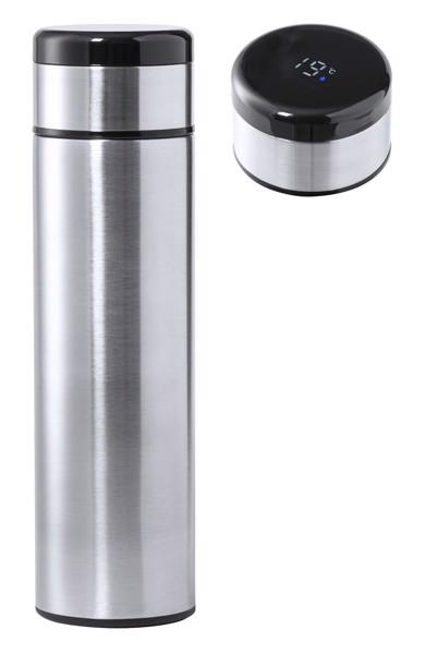 Termoska S Teploměrem Kaucex - Stříbrná