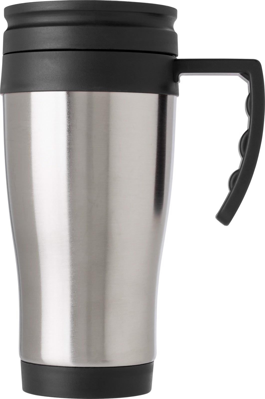 Stainless steel travel mug - Silver