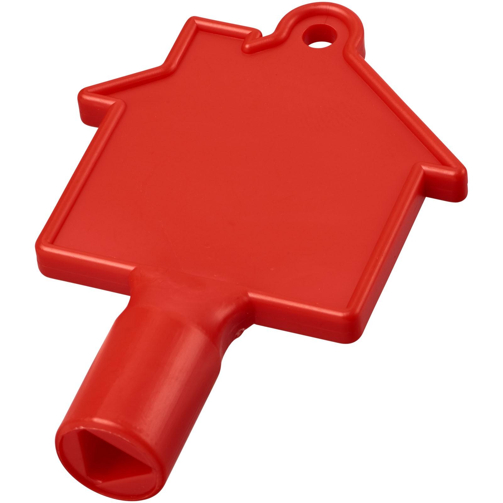 Klíč na měřidla ve tvaru domu Maximilian - Červená s efektem námrazy