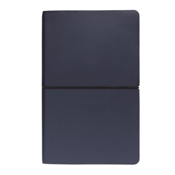 Prémiový moderní poznámkový blok A5 s měkkou vazbou - Námořní Modř