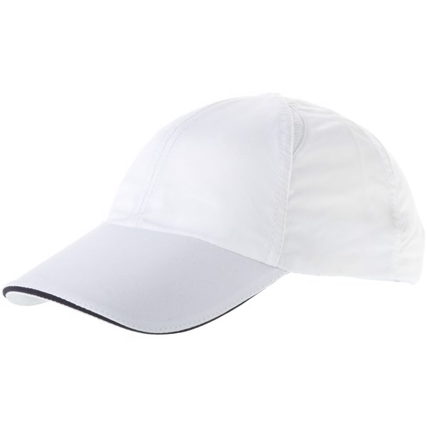 Alley 6 panel cool fit sandwich cap - White