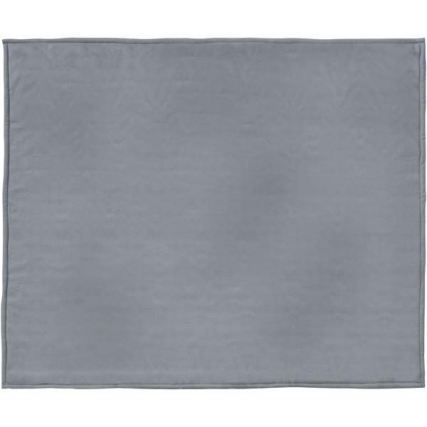 Springwood soft fleece and sherpa plaid blanket - Grey / Off white