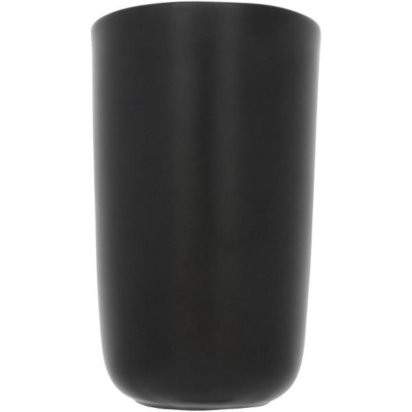 "Vaso de cerámica de doble pared de 410ml ""Mysa"" - Negro Intenso"