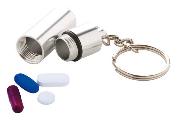 Breloc/Cutie Medicamente Alumpill - Argintiu