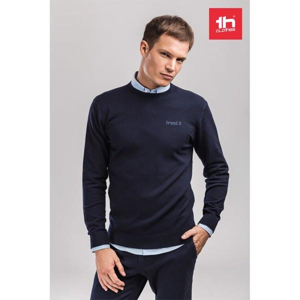THC MILAN RN. Pánský svetr s kulatým výstřihem - Námořnická Modrá / S