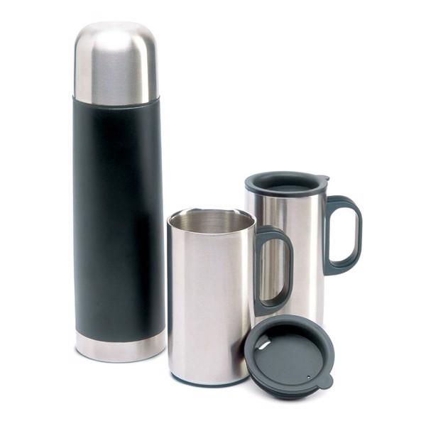 Insulation flask with 2 mugs Isoset