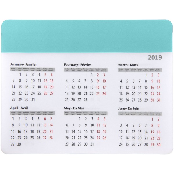 Podložka na myš Chart s kalendářem - Mátově Zelená