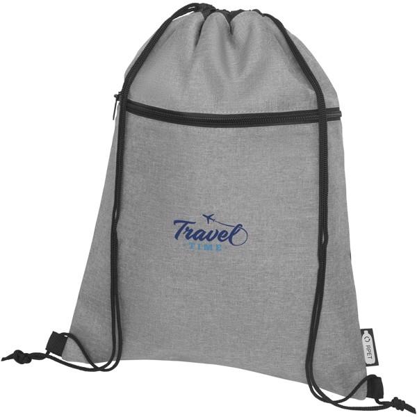 Ross RPET drawstring backpack - Heather medium grey