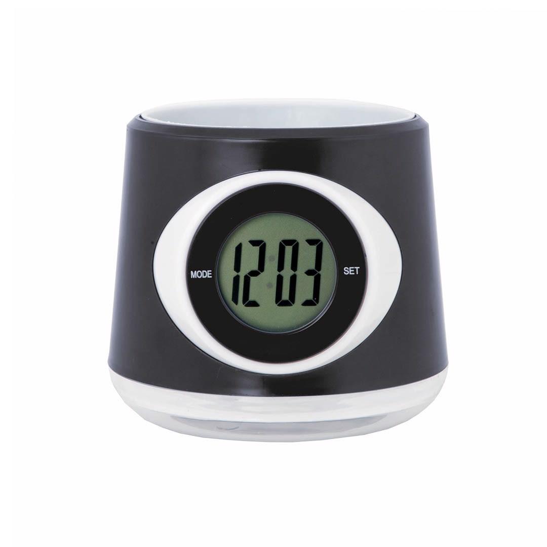 Pot Desk Clock Zelmo - Black