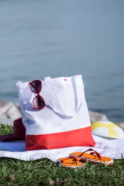 Plážová Taška Bagster - Bílá / Červená