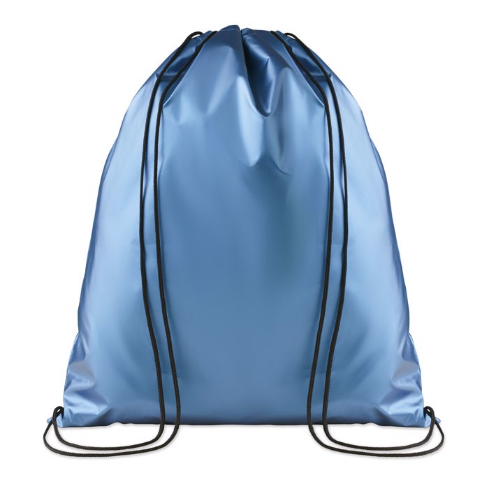 Drawstring bag shiny coating New York - Blue