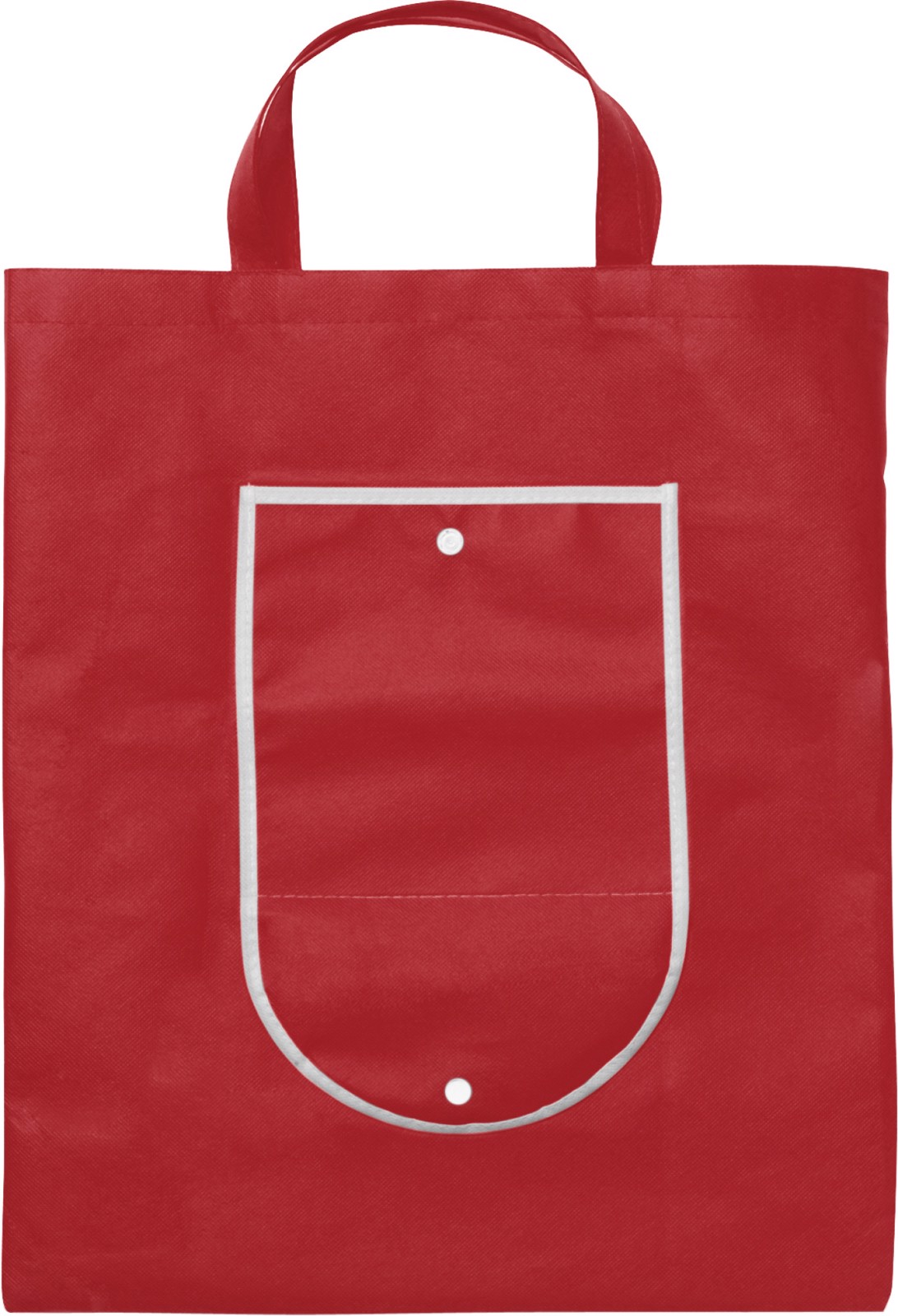 Nonwoven (80 g/m²) foldable shopping bag - Red