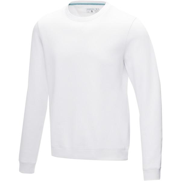 Jasper men's GOTS organic GRS recycled crewneck sweater - White / XL