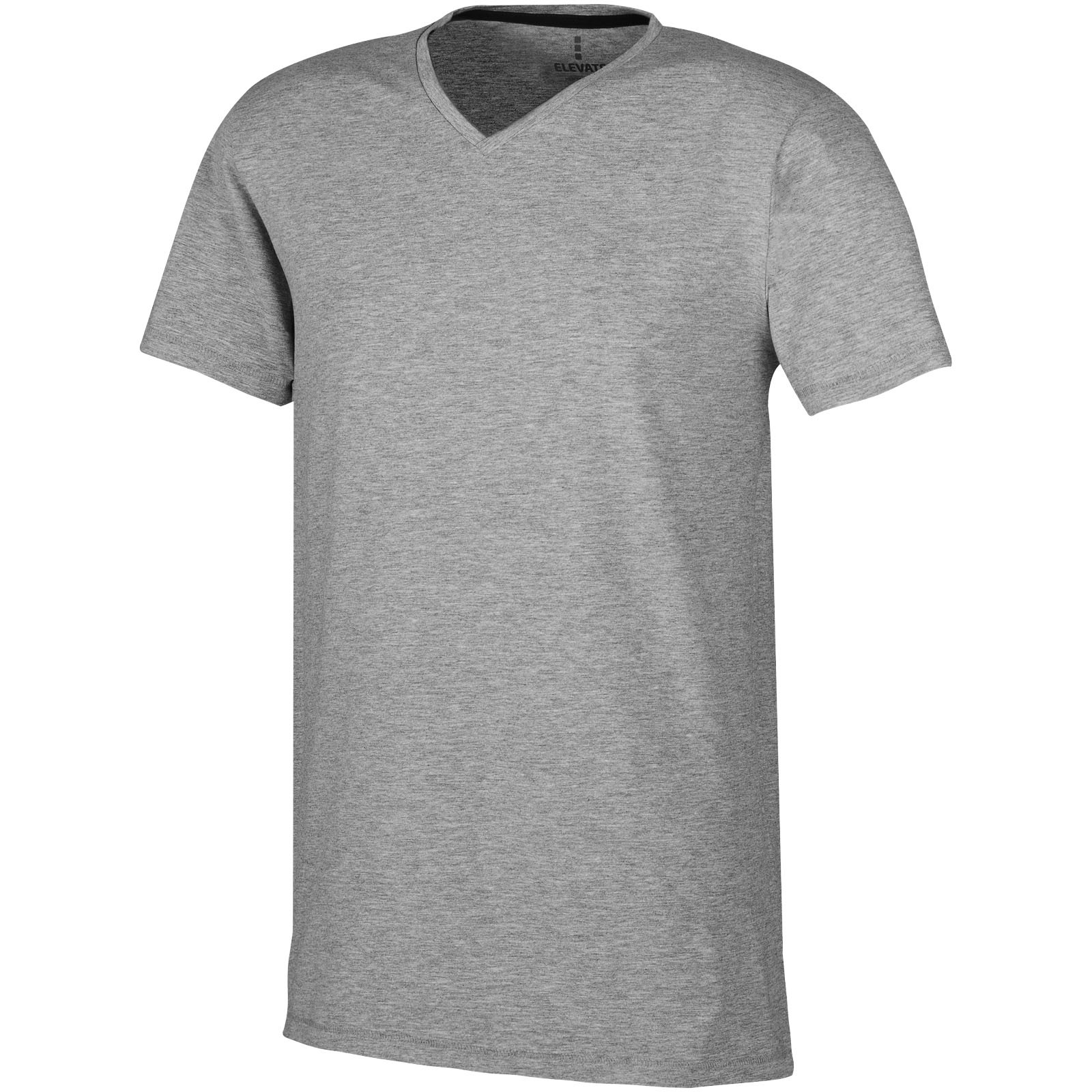 Pánské triko Kawartha s krátkým rukávem, organická bavlna - Šedá melanže / XS