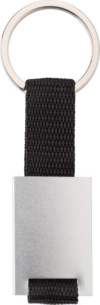 Schlüsselanhänger 'Strap' aus Aluminium - Silver
