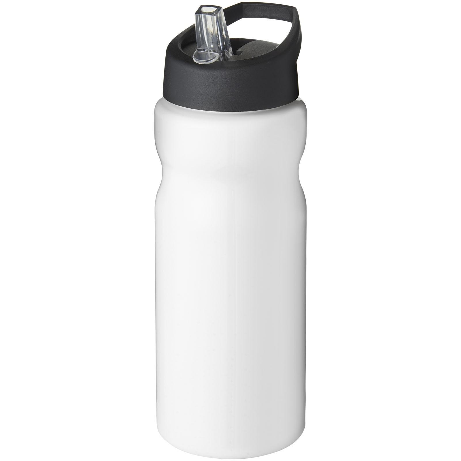 Sportovní láhev s víčkem s hubičkou H2O Base® 650 ml - Bílá / Černá