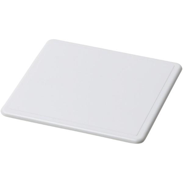 Posavasos de plástico cuadrado Renzo - Blanco