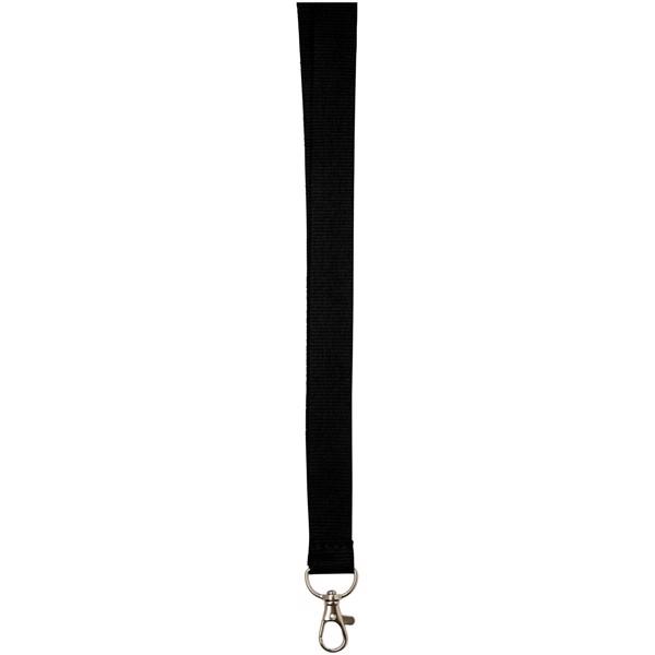 Lanyard Impey s praktickým háčkem - Černá