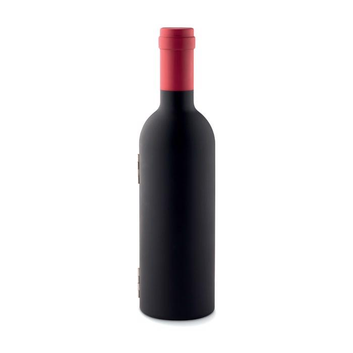Komplet za vino v obliki vinske steklenice Settie