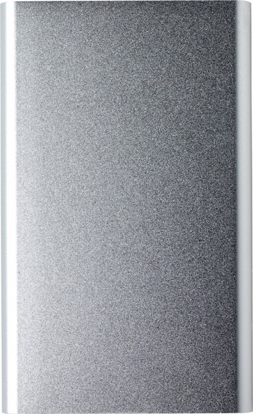 Aluminium power bank - Silver