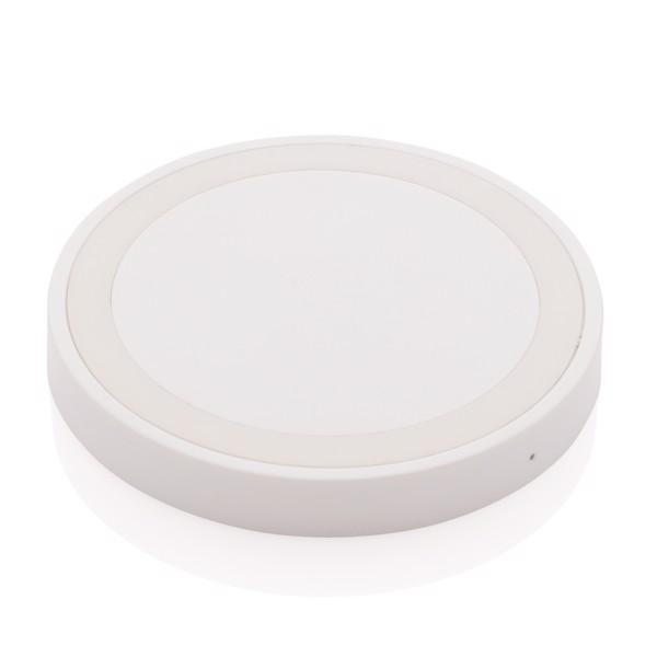 5W wireless charging pad round - White