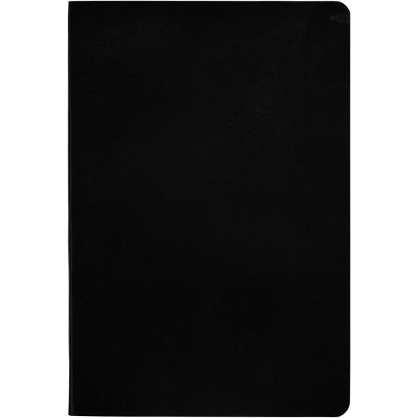 """Libreta A5 de tapa blanda """"Gallery"""" - Negro Intenso"""
