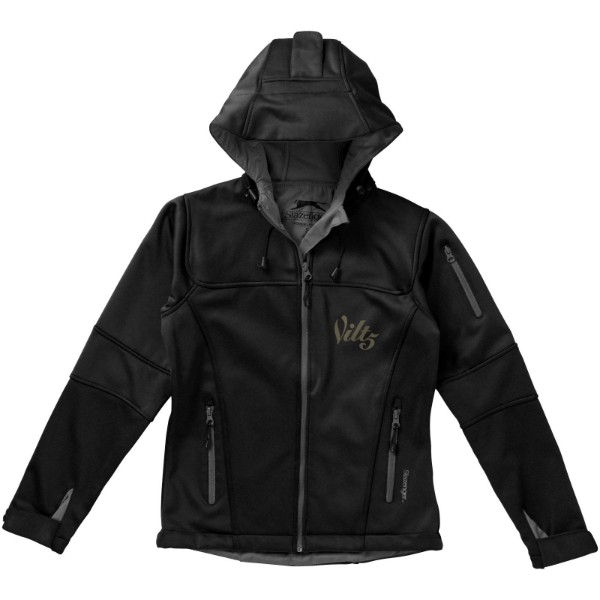 Match ladies softshell jacket - Solid black / L