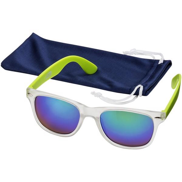 Sluneční brýle California s exkluzivním designem - Limetka / Průhledná
