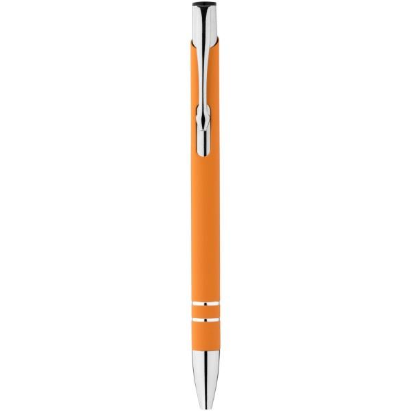 Kuličkové pero Corky s pryžovým povrchem - 0ranžová