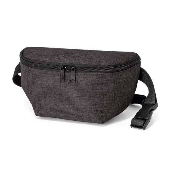 APRIL. Bolsa de cintura em 600D - Cinzento Escuro