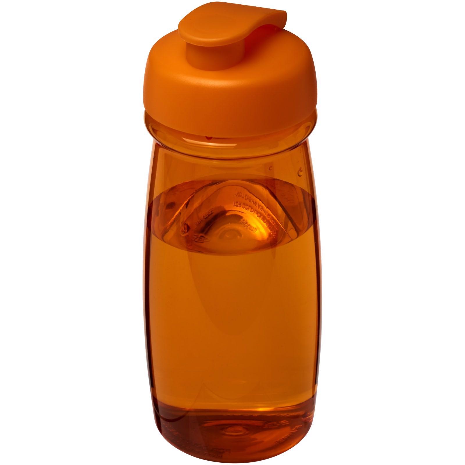 H2O Pulse® 600 ml flip lid sport bottle - Orange